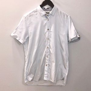 Ted Baker Blue Collar Short Sleeve Button Down (4)
